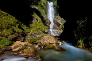 Autour de Megève cascade