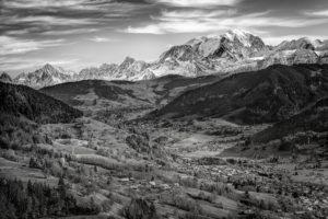 Megève village vue Mont Blanc