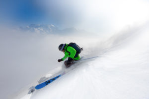 Skieur Megève